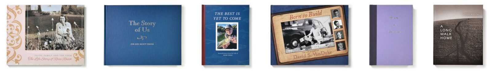 Hardcover Life Story Book Covers - custom-designed