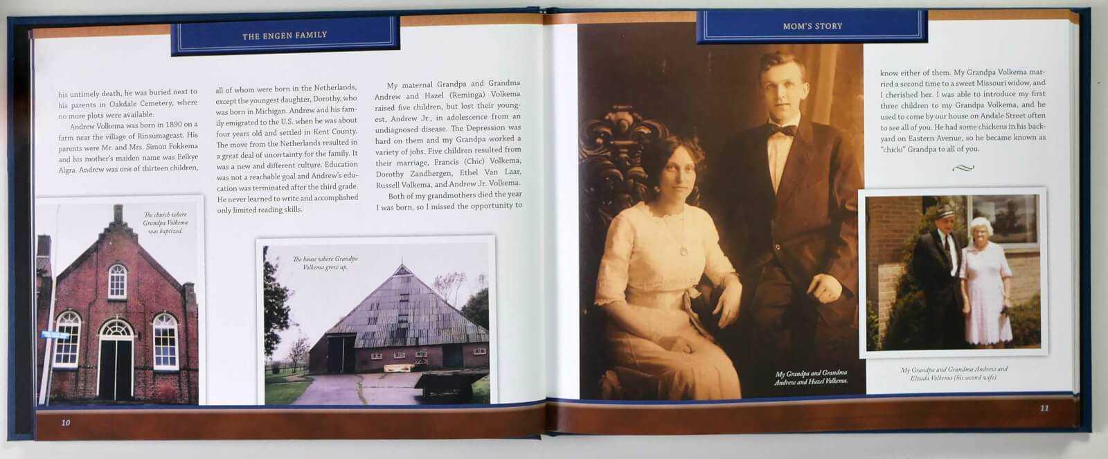 Engen Life Story Book - family history