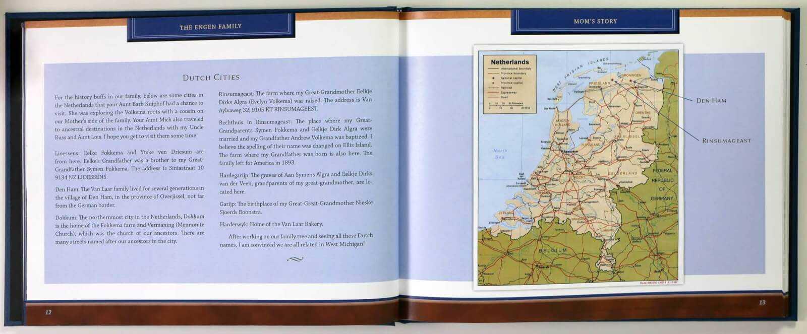 Engen life story - Netherlands Dutch legacy