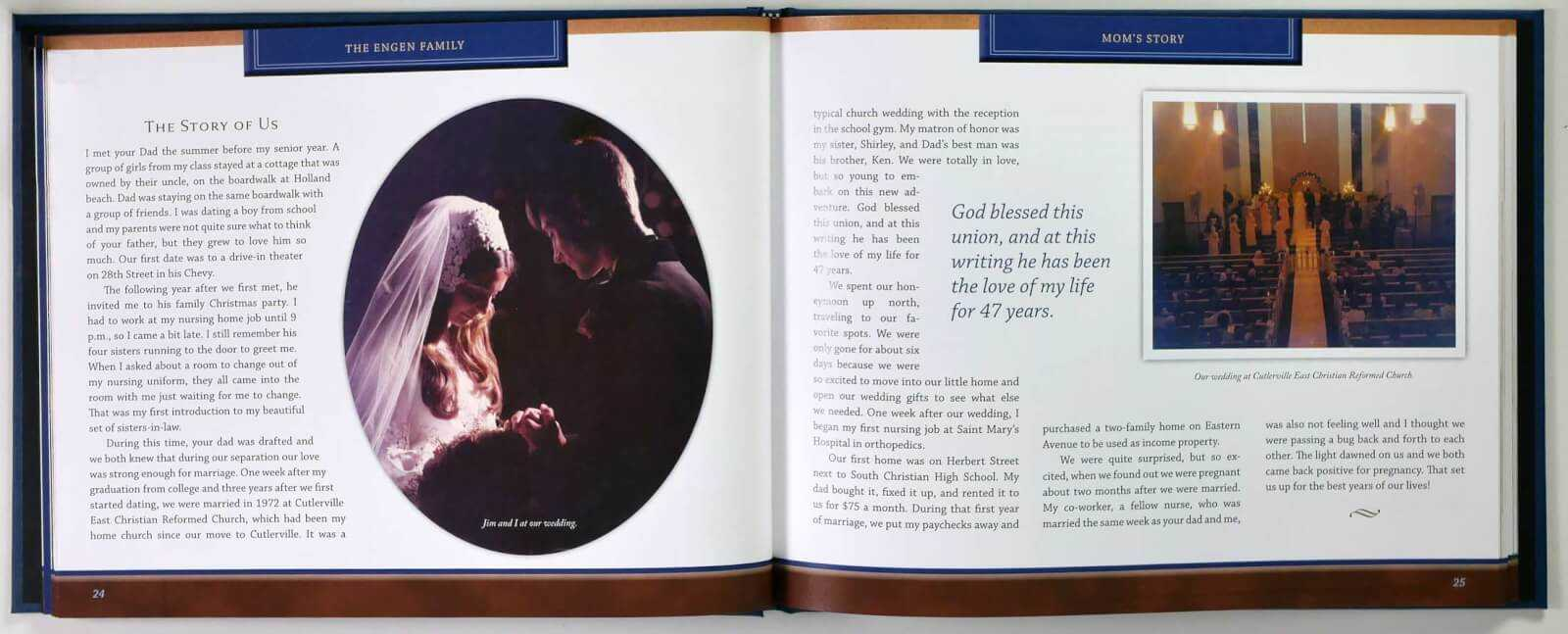 Engen life story book pages 24-25