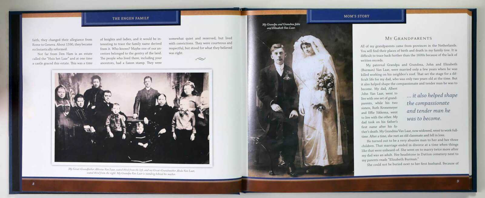 Engen Life Story Book - family genealogy